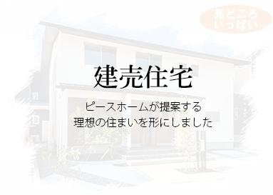 建売情報 ピースホームが提案する理想の住まいを形にしました